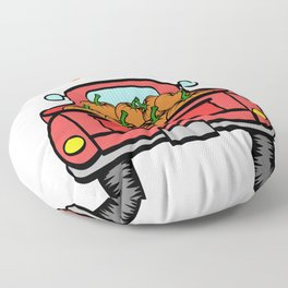 "A Nice Picking Tee For A Picky You Saying ""Pick Of The Patch"" T-shirt Design Pick-Up Car Pumpkin Floor Pillow"