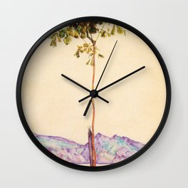 Egon Schiele - Little tree (new editing) Wall Clock