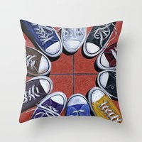 shoes Throw Pillows featuring Shoes by Giorgio Arcuri