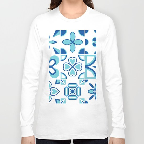 Azulejos blue Long Sleeve T-shirt