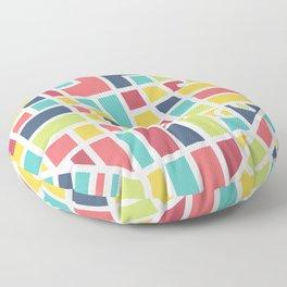 Lancaster, PA Block Map Floor Pillow