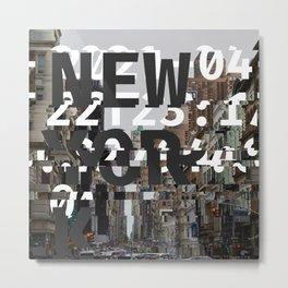 GLITCH CITY 2 #59: New York Metal Print
