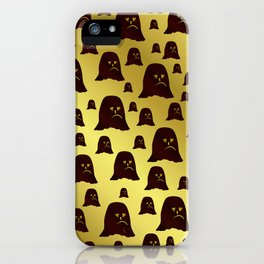 blue, face, brown, ghost, halloween, pattern, gold, funny, set, unique, iPhone Case