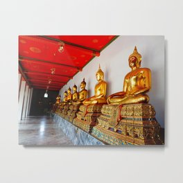 Buddha at Wat Pho Temple Metal Print