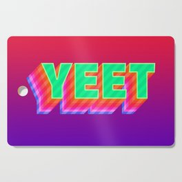 YEET Meme Colorful Typography Cutting Board