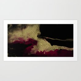 Black Honey - resin abstract painting Art Print