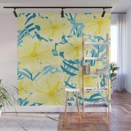 Hibiscus jungles Wall Mural