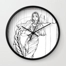 Saree Wall Clock