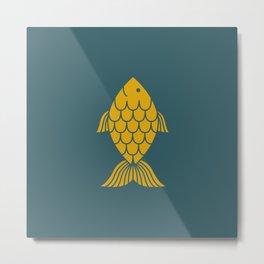 Golden Fish Metal Print