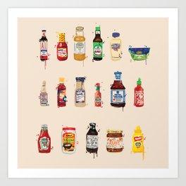 Condiment Crazy Art Print
