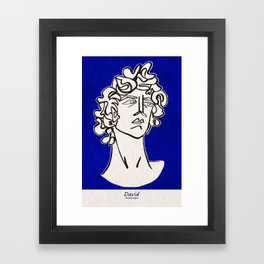 David Michelangelo statue Framed Art Print