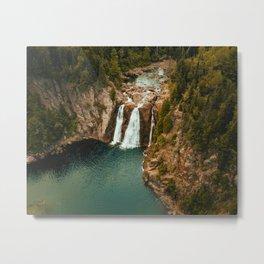 Waterfall Paradise (Color) Metal Print