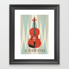 The Red Violin Framed Art Print