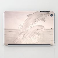 dolphins iPad Cases featuring Dolphins by Shahadjef