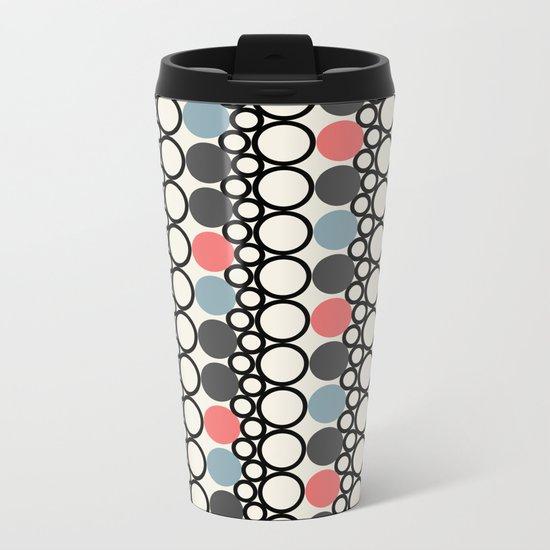 circle pattern Metal Travel Mug