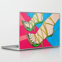feet Laptop & iPad Skins featuring Feet by Mauro Squiz Daviddi
