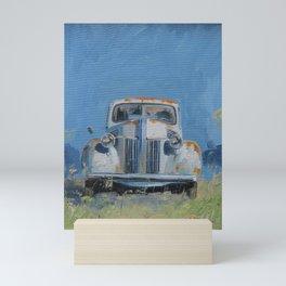 Vintage American truck Mini Art Print