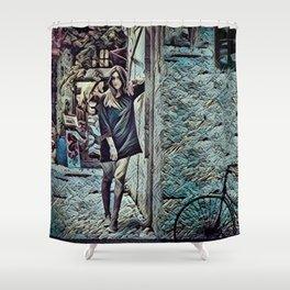 Un Petit Village Français Shower Curtain
