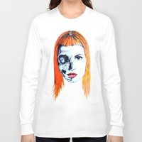 hayley williams Long Sleeve T-shirts featuring Half Skull Half Hayley by anetambiel