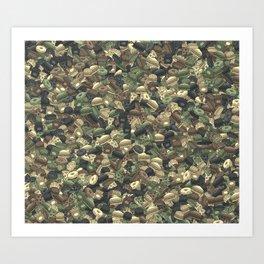 Fast food camouflage Art Print