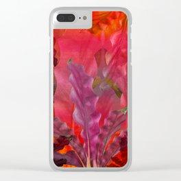 """""""Pink Sci-fi Tropical Jungle"""" Clear iPhone Case"""