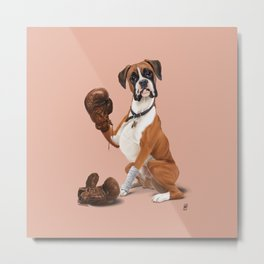 The Boxer (colour) Metal Print