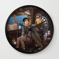 tinker bell Wall Clocks featuring Tinker by Magical Playlist