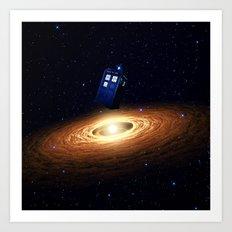 Tardis Black Hole Art Print