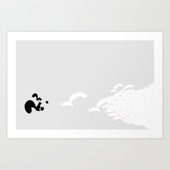 They're after our nuts! Art Print