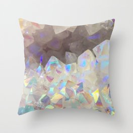 Iridescent Aura Crystals Throw Pillow