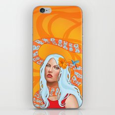 Hummingbird Girl with Orange Swirls iPhone & iPod Skin