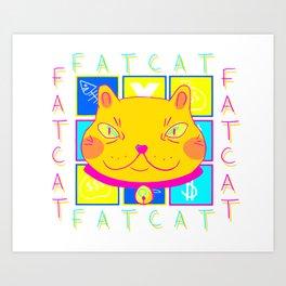fatcat Art Print