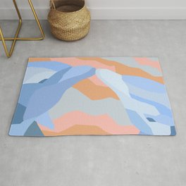 Dolphin Kiss in Pastel Rug