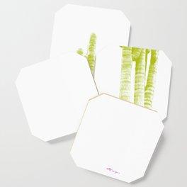 Modern Cacti: Bright Green Coaster