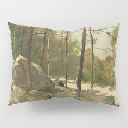 Wooded View near Barbizon - Johan Hendrik Weissenbruch (1900) Pillow Sham