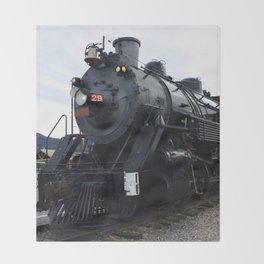 Vintage Railroad Steam Train Throw Blanket