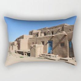 Taos Pueblo Village Road Rectangular Pillow