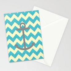 Chevron Anchor Stationery Cards
