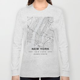 New York Map Long Sleeve T-shirt