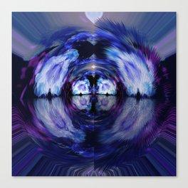 A Blue Azalea Layer v.2 Canvas Print