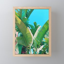 Pop Art Banana Leaf Framed Mini Art Print