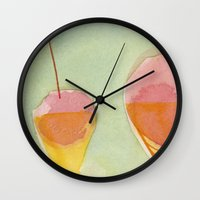 cherry Wall Clocks featuring Cherry by angela deal meanix
