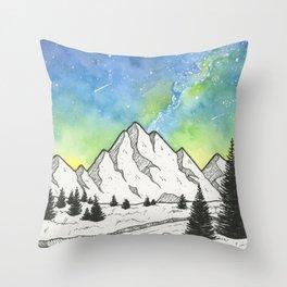 Mountain Skies Throw Pillow