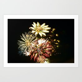 Canadian Fireworks Art Print