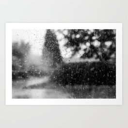 Looking At Rain Art Print