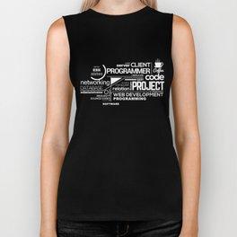 Programmer: Typography Programming 2 Biker Tank