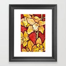 Yellow Lillies Framed Art Print
