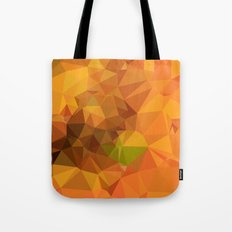 Deep Carrot Orange Abstract Low Polygon Background Tote Bag