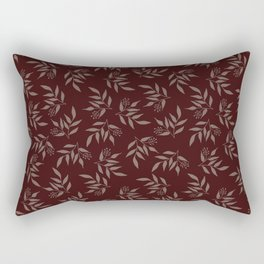 Leaves pattern - Maroon Rectangular Pillow