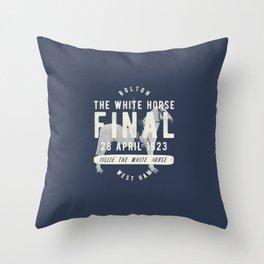 White Horse Cup Final 1923 Throw Pillow